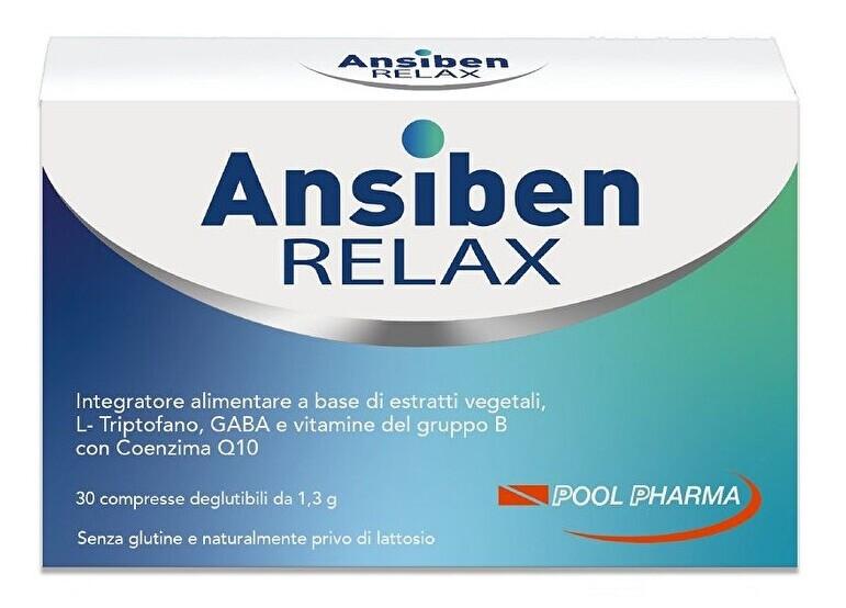   Ansiben relax integratore per stress e cattivo umore 30 compresse